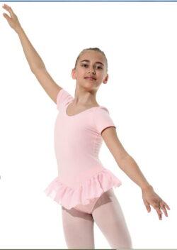 Rosa Ballettricot aus BW-Elastan