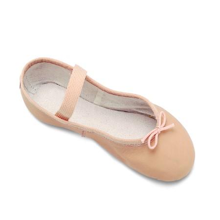 Ballettschläppchen Leder rosa
