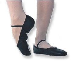 Ballettschläppchen Leder schwarz