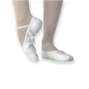 Ballettschläppchen Leder weiss