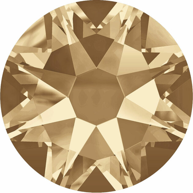 Strassklebesteine - Crystal Golden Shadow