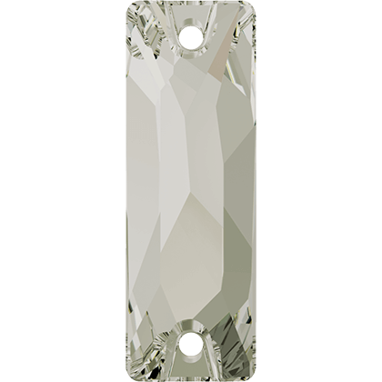 Cosmic Baguette Sew-on Stone Crystal Silver Shade