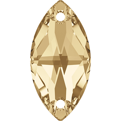 Navette Sew-on Stone Crystal Golden Shadow