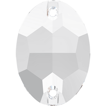Strassaufnähstein Oval Crystal