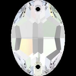 Strassaufnähstein Oval Crystal AB