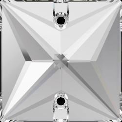Strassaufnähstein Quadrat Crystal
