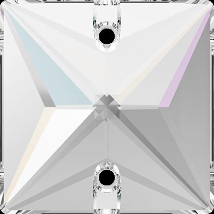 Strassaufnähstein Quadrat Crystal AB