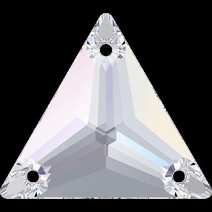 Strassaufnähstein Dreieck Crystal AB