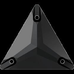 Strassaufnähstein Dreieck Jet