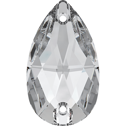 Strassaufnähsteine tropfen Crystal