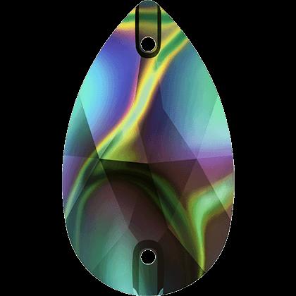 Strassaufnähsteine tropfen Crystal dark Rainbow
