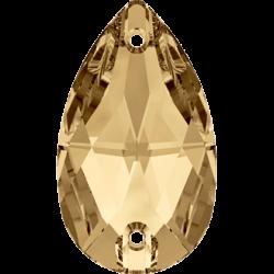 Strassaufnähsteine tropfen Crystal Golden Shadow