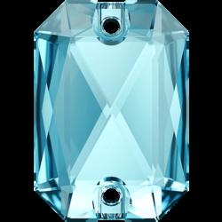 Emerald Cut Sew-on Stone Aquamarine