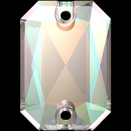 Emerald Cut Sew-on Stone Crystal AB