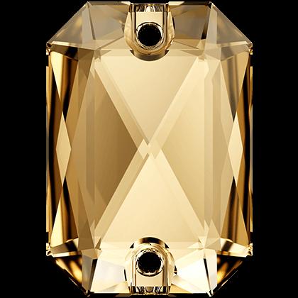 Emerald Cut Sew-on Stone Crystal Golden Shadow