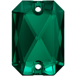 Emerald Cut Sew-on Stone Emerald