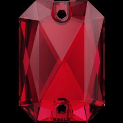Emerald Cut Sew-on Stone Scarlet