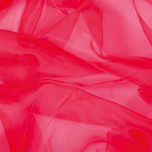 Twinkle-Chiffon Organza FLUORESCENT RED