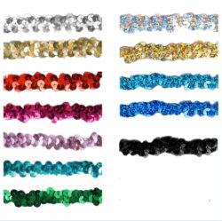 elastisches Paillettenband 15mm