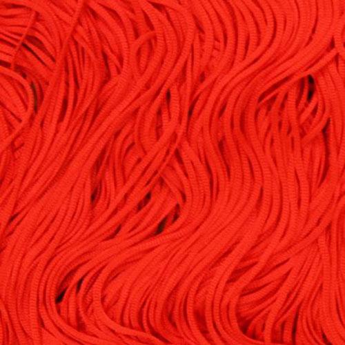 Stretch Fringe Fransen 15cm FLUORESCENT RED