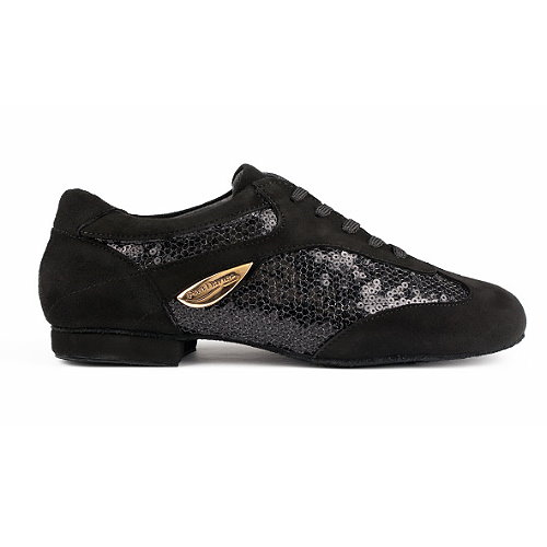sneaker mit Pailletten schwarz